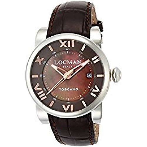 Watch Locman Toscano 0590 V11 – 00 mnpsn Mechanical Steel quandrante Brown Leather Strap