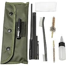 airsson cepillo cepillos de limpieza para pistola Rifle escopeta varilla de limpieza mantenimiento para balines (22lr .223556Caliber con Durable funda accesorios