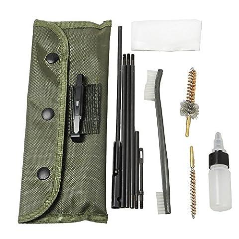 airsson Fusil Pistolet Brosse Kit de nettoyage de fusil de chasse pour Rod d'entretien pour .2222lr .223556Caliber avec Durable avec accessoires