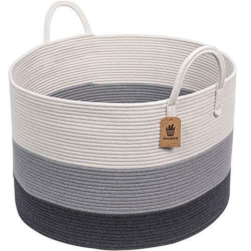 INDRESSME XXXLarge Woven Rope Basket   Wide 21