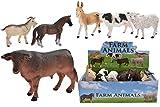TOYLAND Conjunto de 6 Figuras de Animales de Juguete de Animales de...