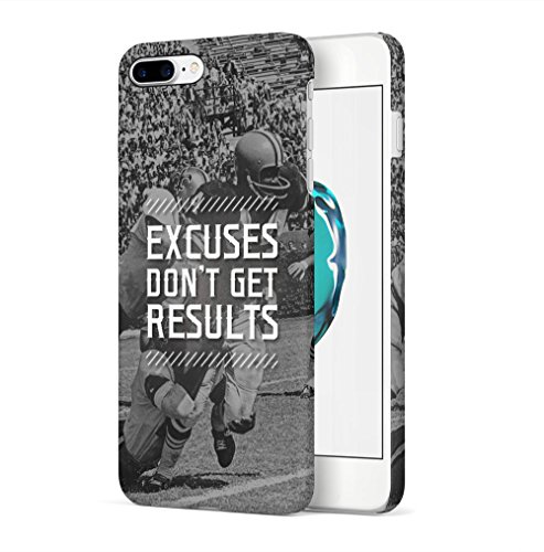 Maceste American Football Excuses Dont Get Results Kompatibel mit iPhone 7 Plus/iPhone 8 Plus SnapOn Hard Plastic Phone Protective Fall Handy Hülle Case Cover (Basketball Iphone Fall)
