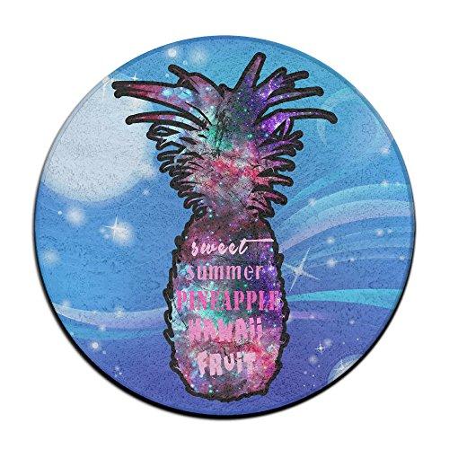 Flamingo et Ananas Hawaii Plante antid/érapant Tapis Circulaire Tapis de Moquette Salle /à Manger Chambre /à Coucher Tapis Tapis de Sol 59,9/cm
