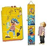 Meßlatte Holz - Piraten zum Klappen / Falten - incl. Wunschname - Messlatte Kinderzimmer Holzmeßlatte für Kinder Kind Pirat Seefahrer Holzmeßlatte Drachen