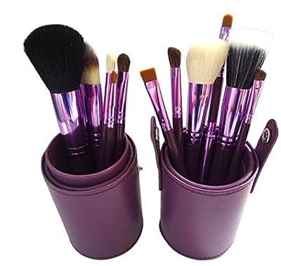 12 Stück Make-up Pinsel Pinsel Set Kosmetik-Set mit professionellen runde Gehäuse Blush Powder Foundation Eye Liner Augen von Clémentine auf TapetenShop