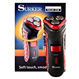 #7: Surker® RSCW-258 3 Blade Cutting Shaver with Pop Up Trimmer Rechargeable