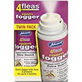 Johnson's 4fleas Room Fogger Twin Pack Kills Fleas Moths Mosquitoes, Bed Bugs 2x100ml