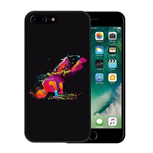 iPhone 7 Plus Hülle, WoowCase Handyhülle Silikon für [ iPhone 7 Plus ] Roma Itallien Symbole Handytasche Handy Cover Case Schutzhülle Flexible TPU - Schwarz Housse Gel iPhone 7 Plus Schwarze D0029