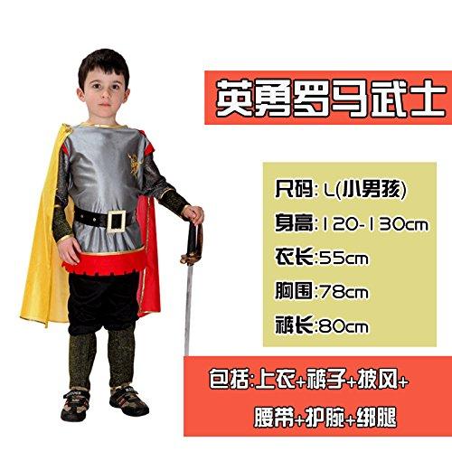 ChengBai Halloween kostüm Kinder Kleidung zeigen erwachsenen männlichen Kind Kämpfer Prince Cosplay Kostüme, 44 # König heroischen Samurai Rom (Kostüme Kind Samurai)