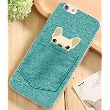 Coque silicone souple Iphone SE / 5 / 5s Petit chien caché (Livraison gratuite en France)