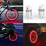 OHQ Fahrradbeleuchtung 2 stücke LED Reifen Ventilkappen Neonlicht Auto Zubehör für Fahrrad Auto Auto (A)
