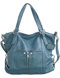 Waverly Light Denim Blue Large Cross-body Convertible Tote Handbag By Laurel And Sunset