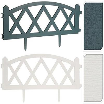 4er Set Plastik Hölzernes Optik Diamond Gitter Form Rasen Begrenzung Rand Garten Einfassung Pflanze Posten Umzäunung Platten-set von Picket Fencing bei Du und dein Garten