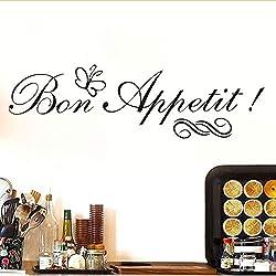 Shuyinju Guten Appetit Wandaufkleber Mit Schmetterling Französisch Spanisch Diät Wohnzimmer Esszimmer Restaurants Küche Wohnkultur Tapete