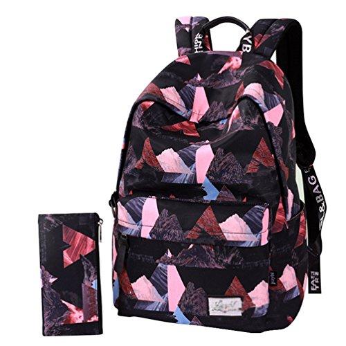591b1f79eddeb YuanDian Mädchen Jungen Schulrucksack Drucken Reise Wasserdicht Reduzieren  Sie die Belastung Rucksäcke Weiterführende Schule Schüler Schultaschen ...