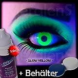 Meralens A0414 Glow Orange Kontaktlinsen mit Pflegemittel mit Behälter ohne Stärke, 1er Pack (1 x 2 Stück)
