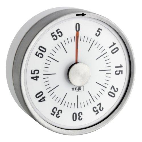�chentimer, Eieruhr magnetisch, Timer, mit Restzeit-Anzeige, 0-60 Minuten, weiß, 38.1028.02 ()