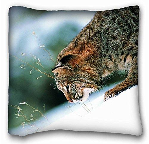 Dekorative Baumwollleinen, quadratisch Tiere Katze weiß Nase 45,7x 45,7cm Zwei Seite, Polyester-Mischgewebe, Muster 10, (Nase Katze Weiße)