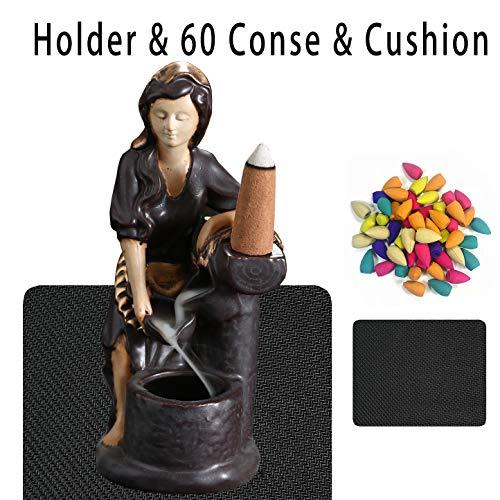 OTDCGI Backflow Räucherkegel mit 30 Stück Backflow Räucherkegel, Figur Home Decor Statue Ornamente Geschenk Eve -