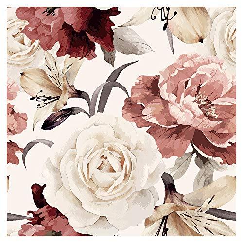 murando - Vlies Tapete Blumen - Deko Panel Fototapete Wandtapete Wand Deko 10 m Tapetenrolle Mustertapete Wandtapete modern design Dekoration - Rosen Pfingstrosen b-C-0245-j-a - Blume-panel