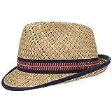 Lipodo Trilby in Paglia Cappello per Bambini Larino - Cappello da Sole - Prodotto in Italia - Trilby 49-55 cm - Cappello da Spiaggia con Fascia in Gros-Grain Colorata Natura 53 cm