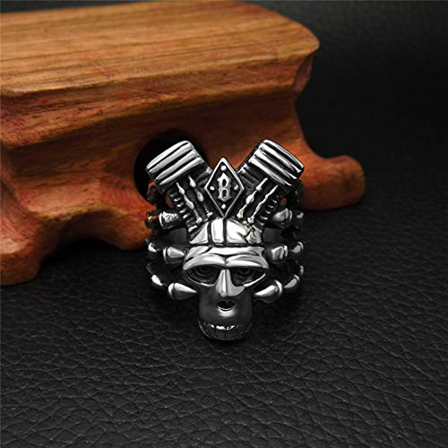JIEZHI Herren Punk Wind Titan Schmuck Zubehör Mode Magic Dragon Claws Skull Ring
