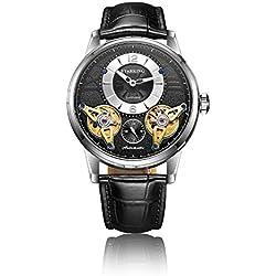 STARKING Men's AM0222SL22 Double Tourbillon Skeleton Luminous Automatic Watch