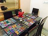 indischen handgefertigt Patchwork Esstisch Baumwolle Tischsets, Tischläufer, Tischdecke, Küche & Tisch Linens, Schreibtisch Tisch Pads, handgefertigt Platzdeckchen Schwarz