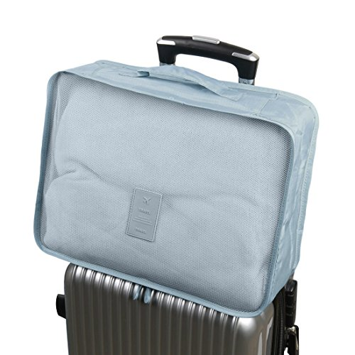 sourcingmap® 6stk. Grau Wasserbeständig Kleidung Aufbewahrungsbeutel Würfel Reisen Organizer