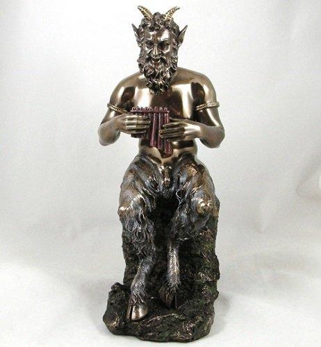 Unbekannt 'Pfanne' cloven hoofed Naked Satyr Statue griechischen Mythologie Goat Gott bronze bronziert Figur