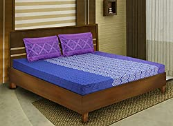 Bombay Dyeing double bedsheet with 2 pillow covers-Breeze-Magenta