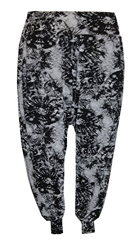 Pretty Fashion Women's Harem Trousers Ali Baba Long Ladies Girls Pants Baggy Harem Leggings Plus Size 8-22