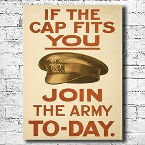 Join The Army Vintage Menschenrechten beim Kampf gegen, auf Leinwand, 28 x 38 cm