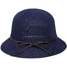 AIEOE Sombrero de Paja para Mujeres Gorro Transpirable con Ala Ancha  Protección Solar Ligero Elegante 12c34504760
