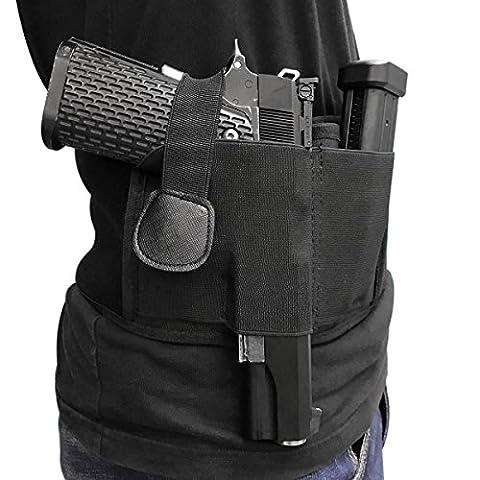 Xcellent Global Belly Band Holster Tactical Belt Concealed Carry for Pistols Revolvers, Black HG184