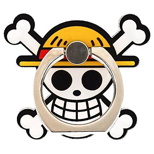 Yovvin One Piece Handyhalter Finger Ring 360° Freidrehbar Kickstand Smartphone Finger Halterung Ring & Ständer für iPhone, iPad, Samsung, HTC, Nokia Smartphones, und Tablet (Style - Apple Ipad Kostüm