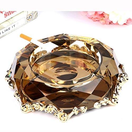 Jiaqi Aschenbecher Luxus europäischen Kristall Aschenbecher kreative Persönlichkeit Trend Multifunktions, Home Wohnzimmer benutzerdefinierte Legierung Aschenbecher (Farbe : G)