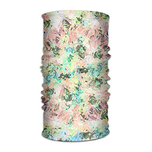 Ncutakuzvmr Abstract Flowers Leaves Pattern Original Headband with Multi-Function Sports and Leisure Headwear UV Protection Sports Neck, Sweat-Absorbent Microfiber Running, Yoga, Hiking -