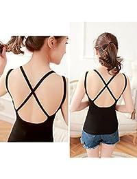 Bjac Women's Padded Camisole Back Bralet (BJAC-CBB-0001_Black_Free Size)
