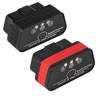 KONNWEI KW901 OBDII Auto Diagnosescanner-Codeleser Bluetooth 3.0 für Android(Swar+Rot)