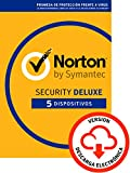 Norton Security | Deluxe | 5 Dispositivo | 1 Año | PC/Mac | Código de activación enviado por email