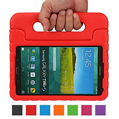 NEWSTYLE Samsung Galaxy Tab S 8.4 Shockproof Case Light Weight Kids Case Super Protection Cover Handle Stand Case for Kids Children For Samsung Galaxy Tab S 8.4-inch SM-T700 SM-T705 - Red Color