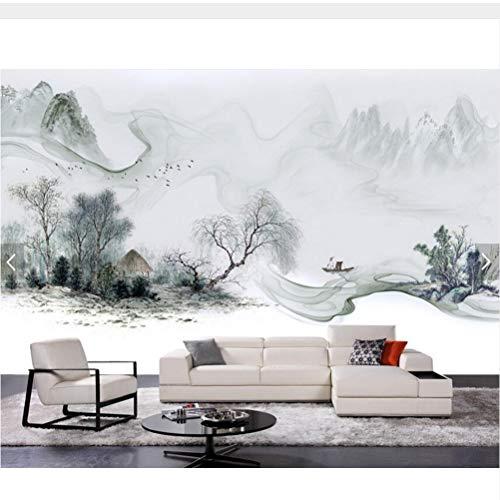 Meaosy Chinesischen Stil Tinte Landschaft 3D Tapete Benutzerdefinierte Mural, Wohnzimmer Schlafzimmer Tv Sofa Wand Zimmer Küche Tapeten Wohnkultur-120X100Cm
