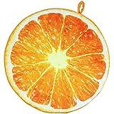 Vococal - Fruta Redonda Cojines de Peluche de tiro del mano para Oficina Silla Respaldo Cojín Sofá(Naranja)