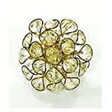#5: White Alloy Beads Big Ring