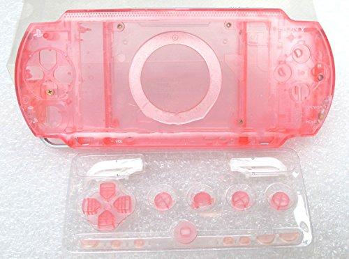 Pink Full Housing (Ersatz Full Gehäuse Schale Schutzhülle mit Tasten Schrauben für PSP 1000psp1000-clear Pink)