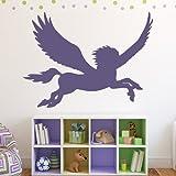 azutura Volare Pegaso Adesivo da parete Fiabe Fantasy Adesivo Decorazione della camera dei bambini disponibile in 5 dimensioni e 25 colori Piccolo Royal Blu