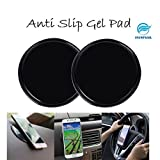 #4: Snowpearl Cell Phone Pads, Sticky Anti-Slip Gel Pads, Stick to Glass, Mirrors, Whiteboards, Metal, Kitchen Cabinets Or Tile, Car GPS and Many More (Pack of 2)