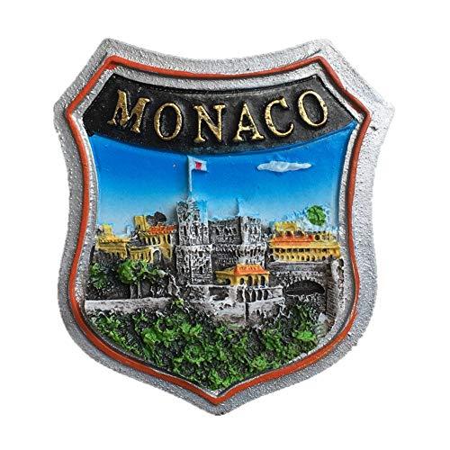 Kühlschrankmagnet Das Fürstentum Monaco 3D Harz Handgefertigte Handwerk Touristische Reise Stadt Souvenir Sammlung Brief Kühlschrank Aufkleber