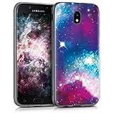 kwmobile Samsung Galaxy J5 (2017) DUOS Hülle - Handyhülle für Samsung Galaxy J5 (2017) DUOS - Handy Case in Mehrfarbig Pink Schwarz